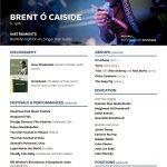 Brent Cassidy Music CV 2019