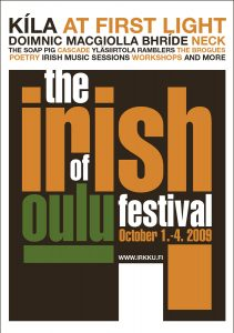 The Irish Festival of Oulu poster 2009
