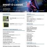Brent Cassidy music cv
